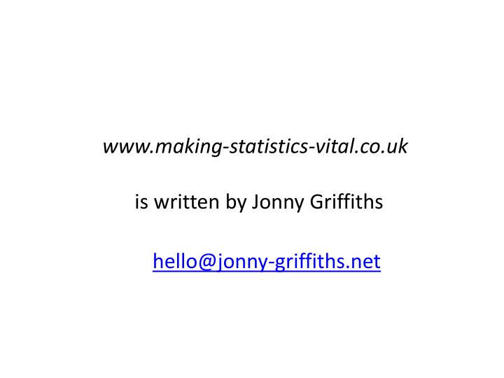 www.making-statistics-vital.co.uk