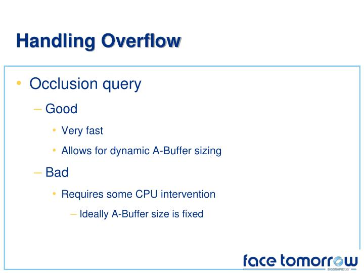 Handling Overflow