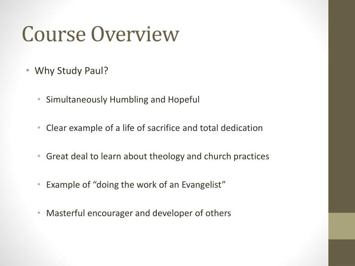 Course Overview