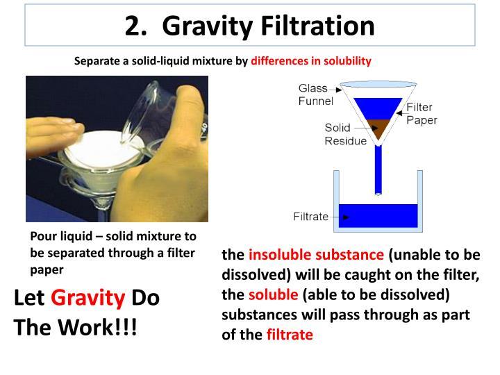 2.  Gravity Filtration
