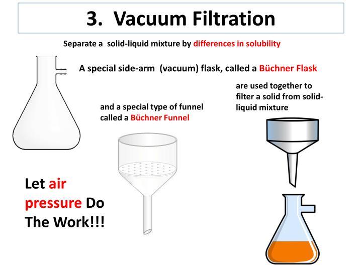 3.  Vacuum Filtration
