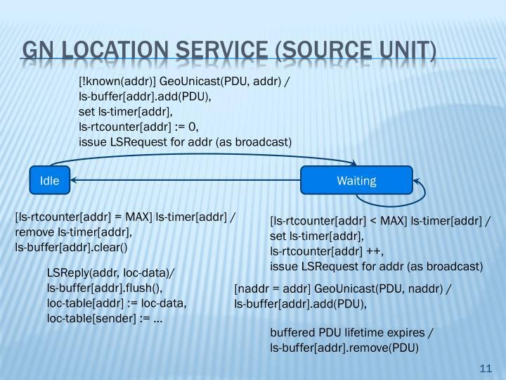 GN Location service (SOURCE UNIT)