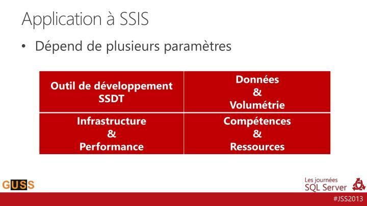 Application à SSIS