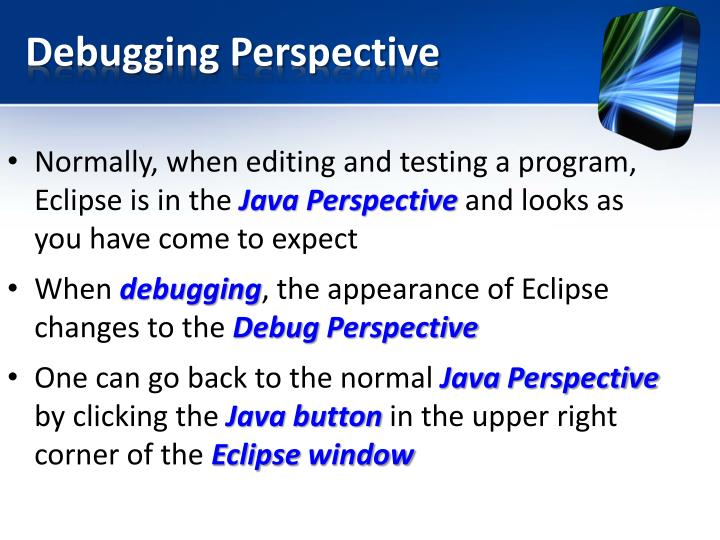Debugging Perspective