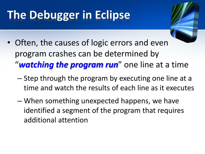 The Debugger in Eclipse