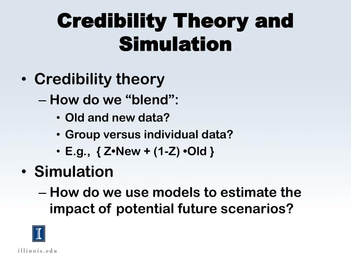 Credibility Theory and Simulation