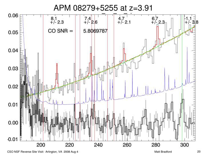APM 08279+5255 at z=3.91