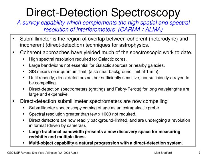 Direct-Detection Spectroscopy