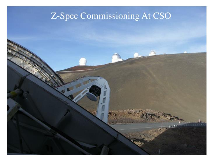 Z-Spec Commissioning At CSO