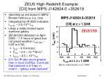 zeus high r edshift e xample cii from mips j142824 0 352619