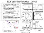 zeus observations of lirgs ulirgs