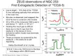 zeus observations of ngc 253 first extragalactic detection of 13 co 6 5