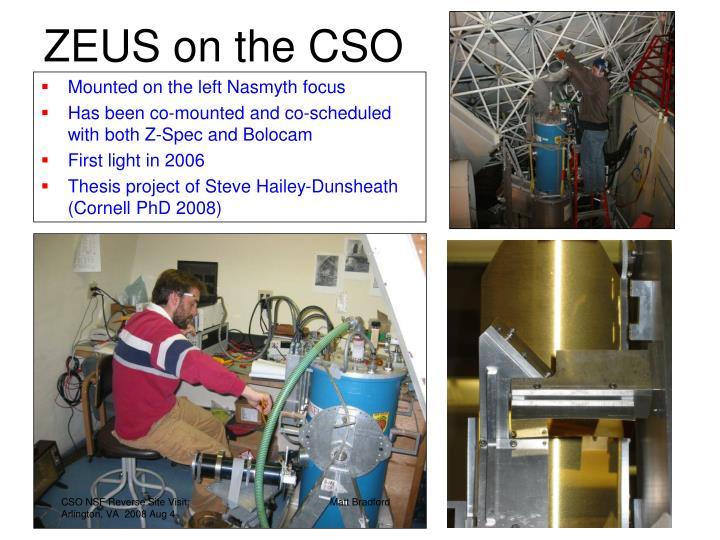 ZEUS on the CSO