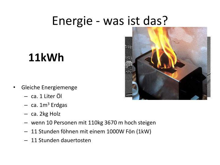 Energie - was ist das?