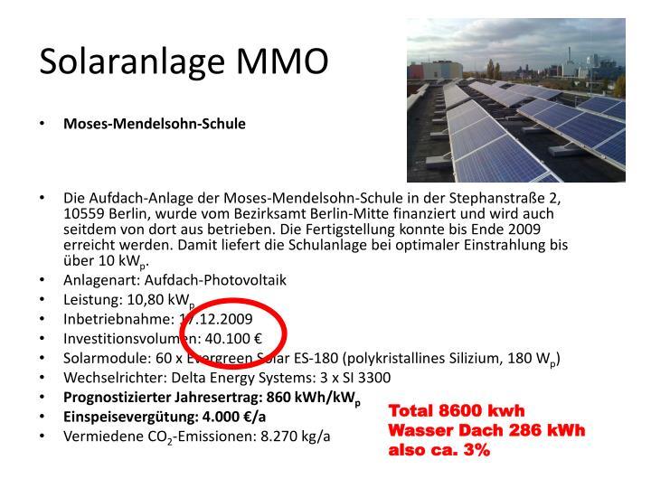 Solaranlage MMO