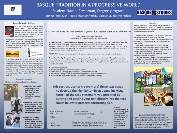Basque Continuity Challenge
