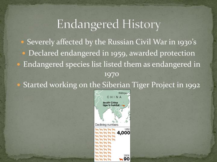 Endangered History