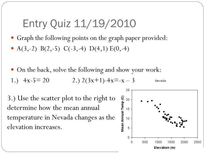 Entry Quiz 11/19/2010