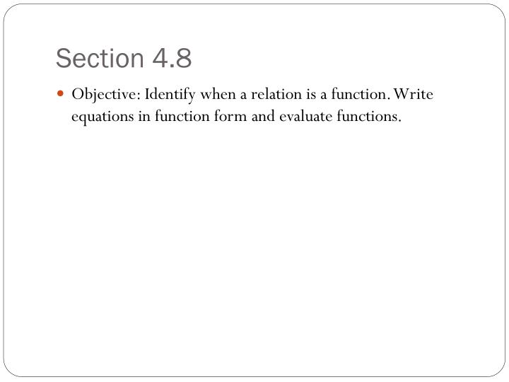 Section 4.8
