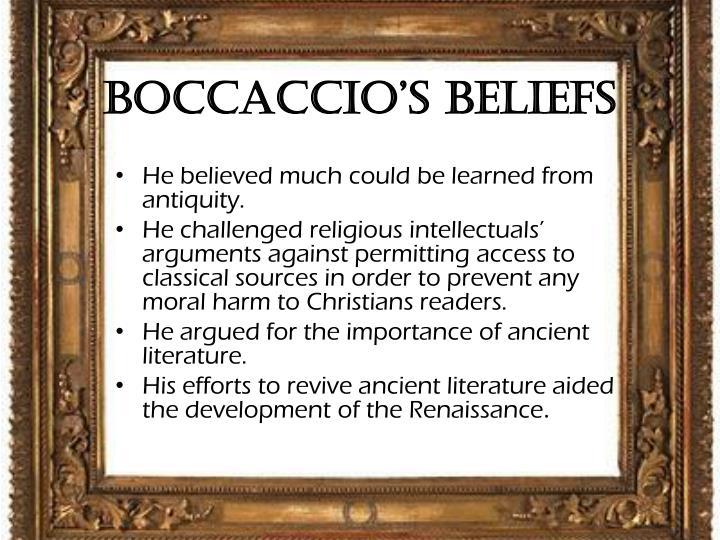 Boccaccio's Beliefs