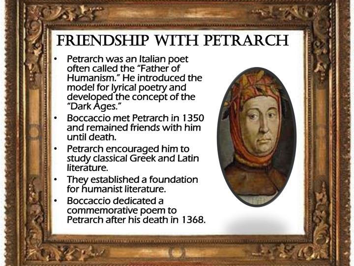 Friendship with Petrarch