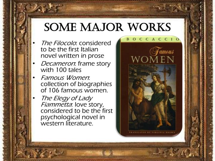 Some Major Works