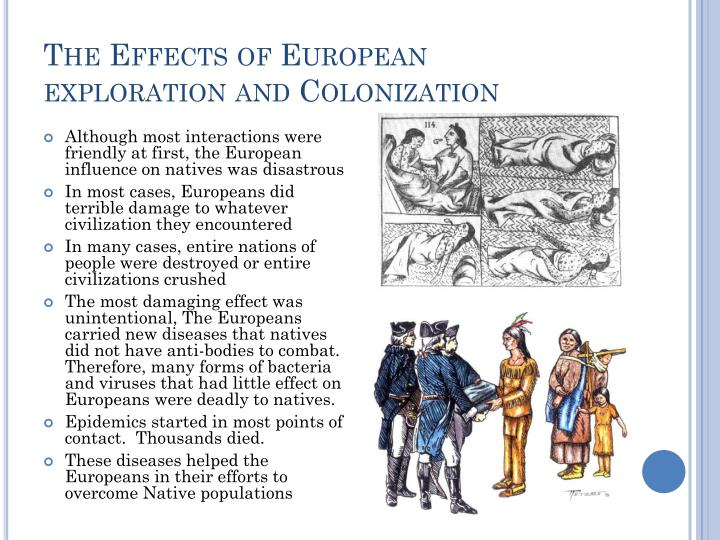 cause and effects of european exploration and colonization of the new world
