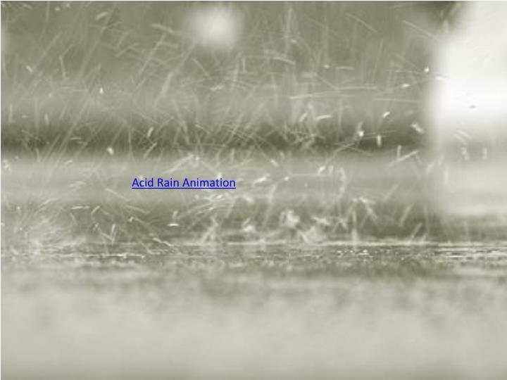 Acid Rain Animation