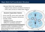 basic multi cell coordination structure