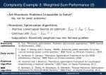 complexity example 3 weighted sum performance 3