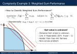 complexity example 3 weighted sum performance