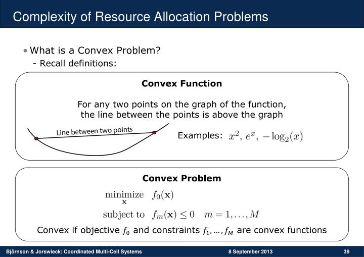 Complexity of Resource Allocation Problems