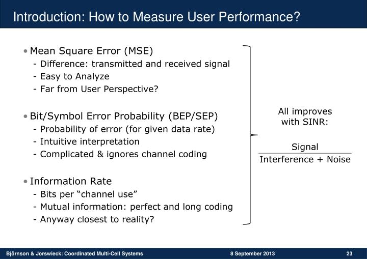 Introduction: How to Measure User Performance?