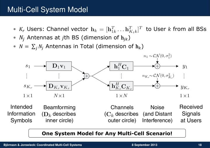 Multi-Cell System Model
