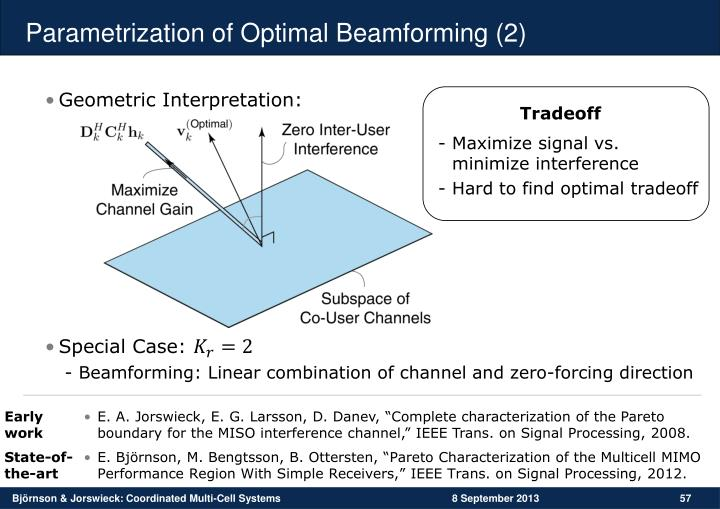 Parametrization of Optimal