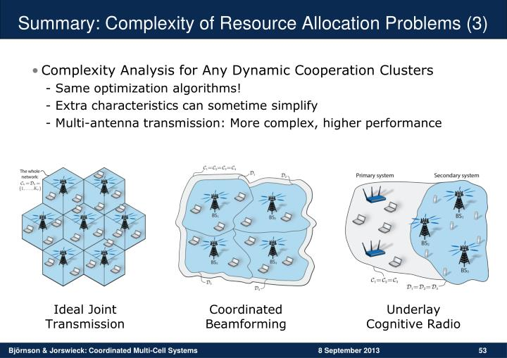 Summary: Complexity of Resource Allocation Problems
