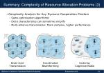 summary complexity of resource allocation problems 3