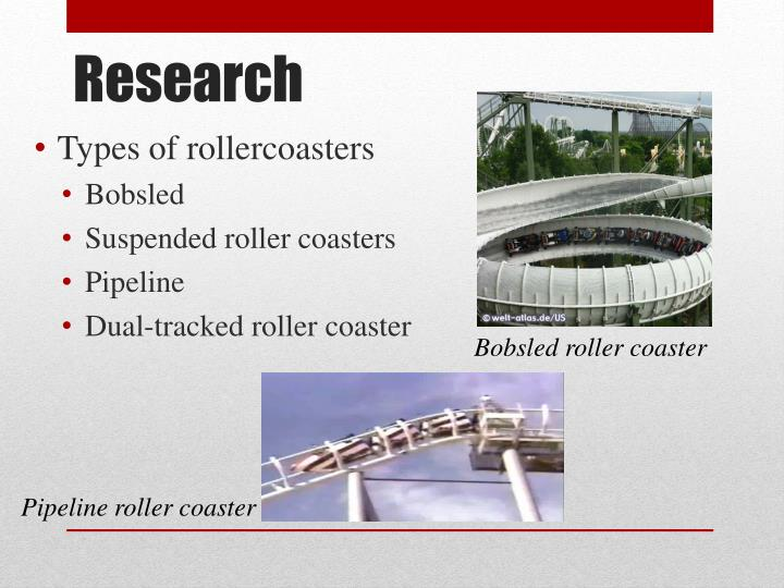 Types of rollercoasters