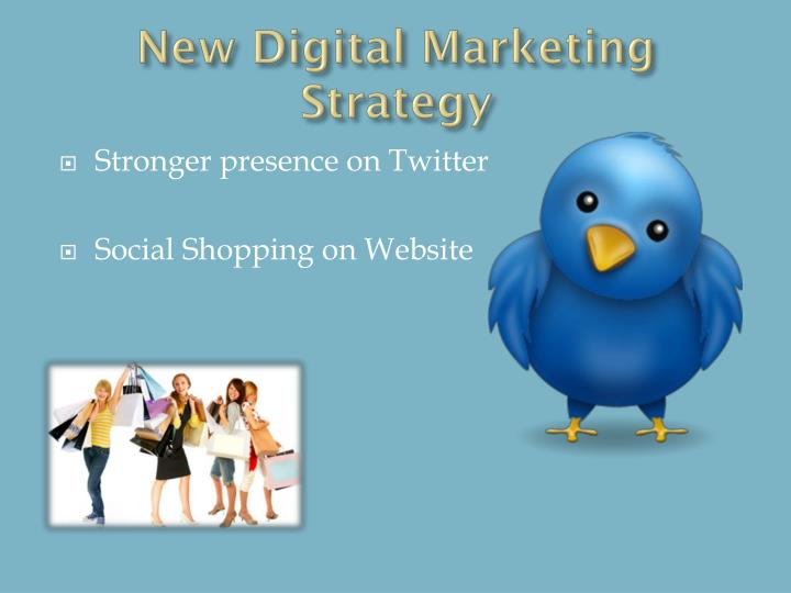 New Digital Marketing Strategy