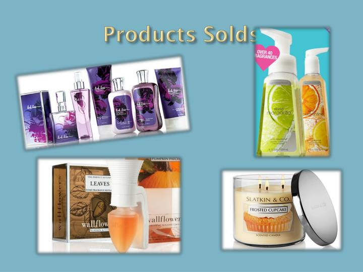 Products solds