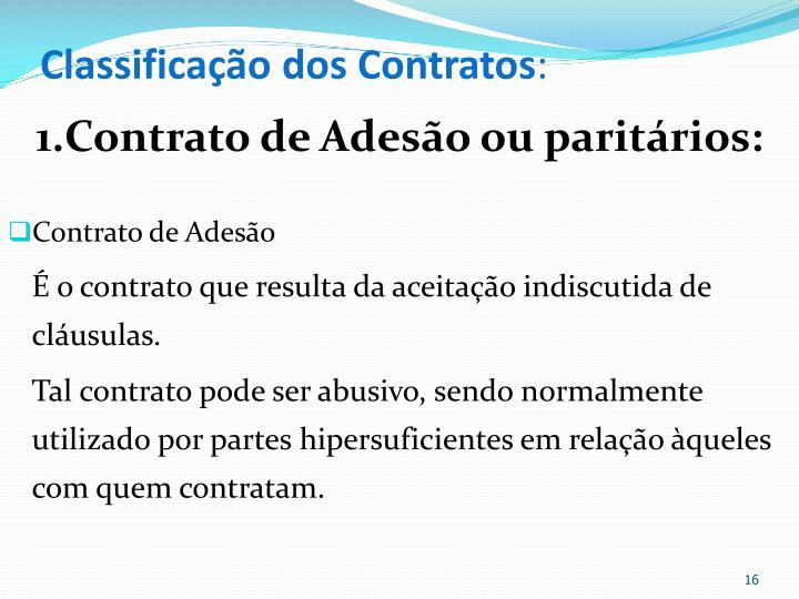 Classificao dos Contratos