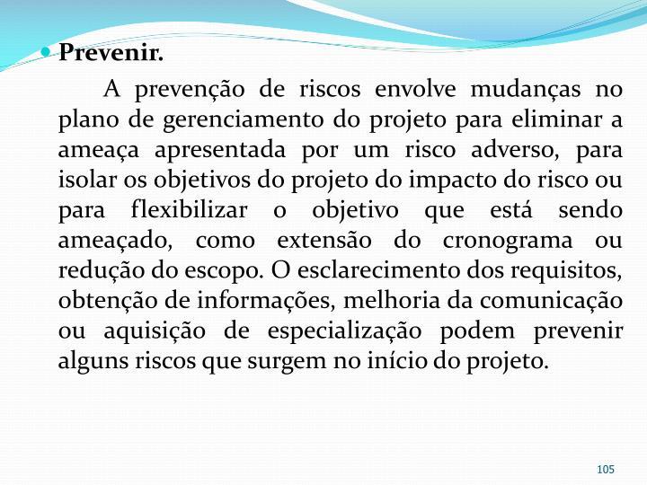 Prevenir.