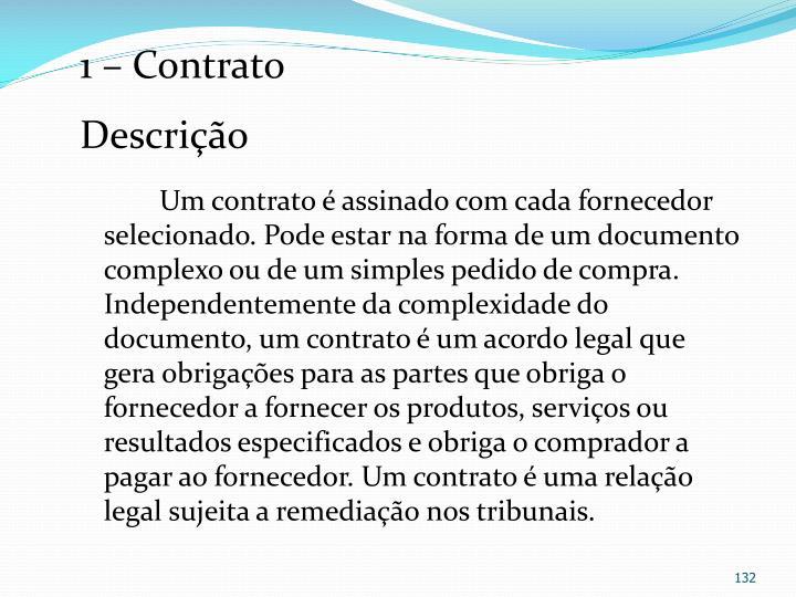 1 – Contrato