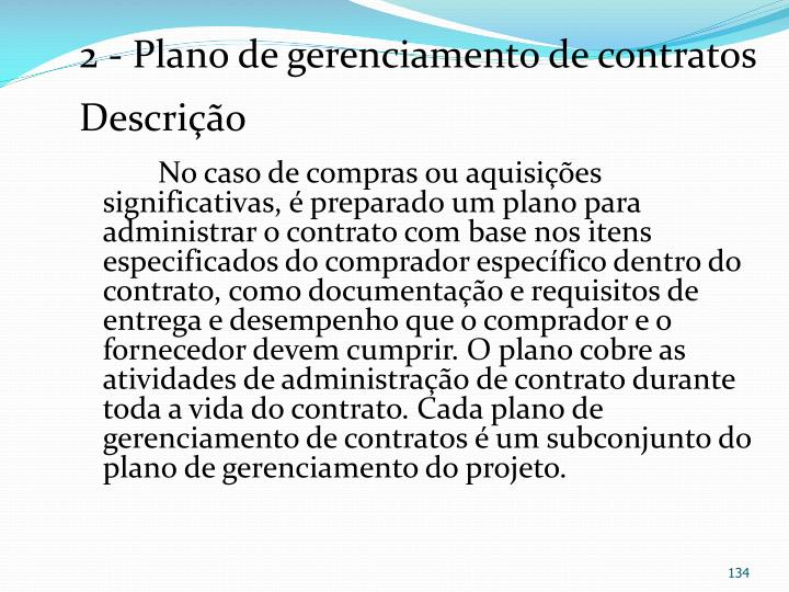 2 - Plano de gerenciamento de contratos