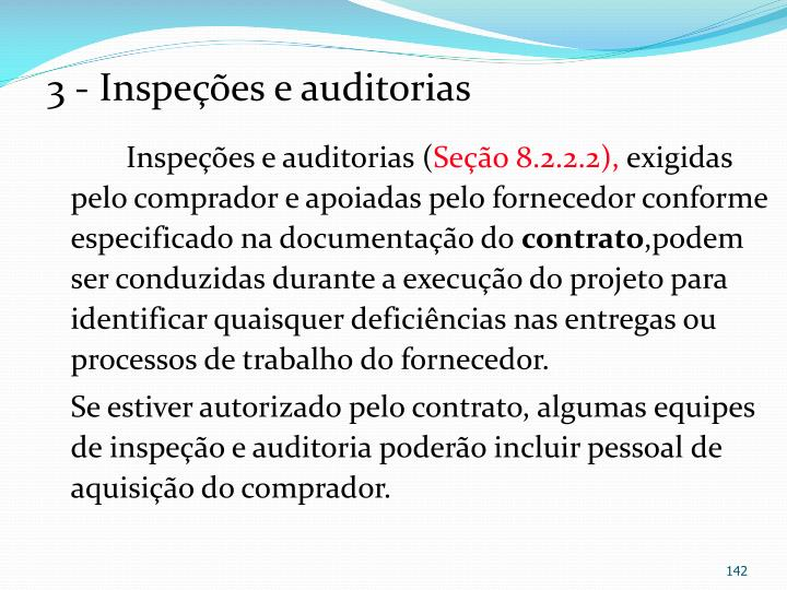 3 - Inspees e auditorias