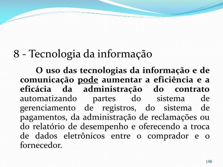 8 - Tecnologia da informação