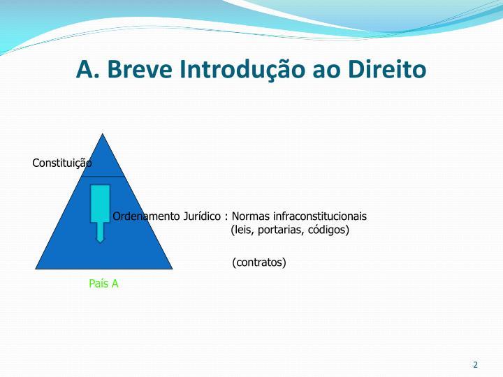 A. Breve Introdução ao Direito