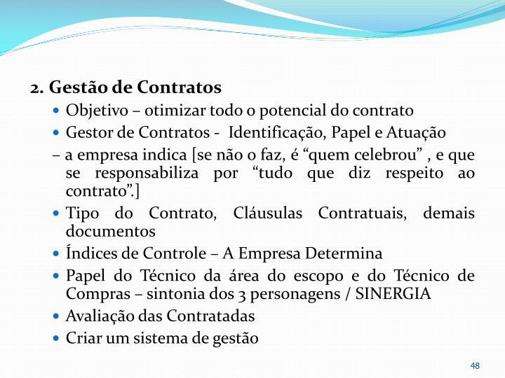 2.Gestão de Contratos