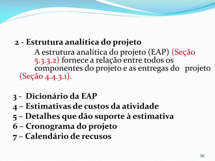 2 - Estrutura analítica do projeto