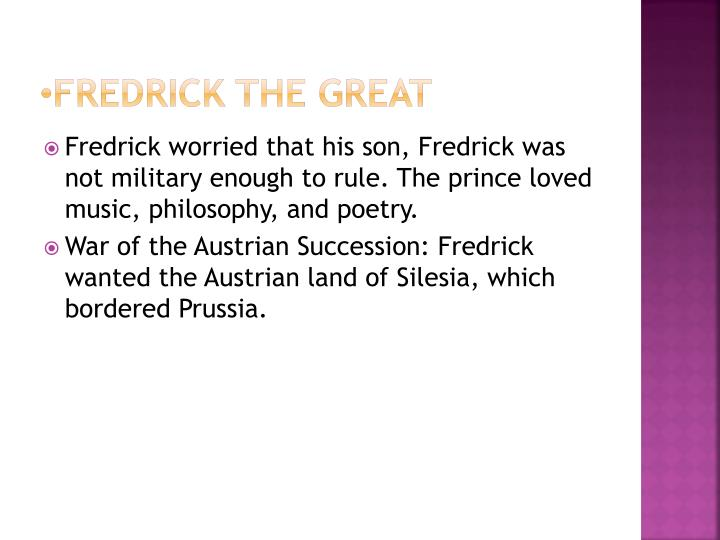 Fredrick the great